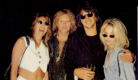 Dorothea Hurley Heather Locklear and Richie Sambora with Jon Bon Jovi and
