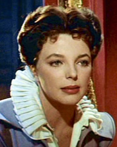 Joan Collins as Beth Throgmorton in The Virgin Queen (1955)
