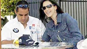 Connie Freydell Juan Pablo Montoya and Connie Fraydell
