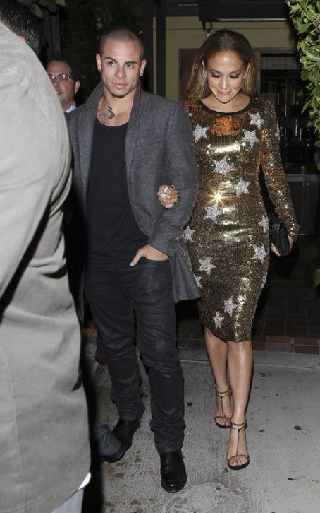 Jennifer Lopez's Golden Night Out with Casper Smart