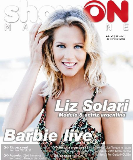 Liz Solari - Show On Magazine Cover [Argentina] (11 February 2012)