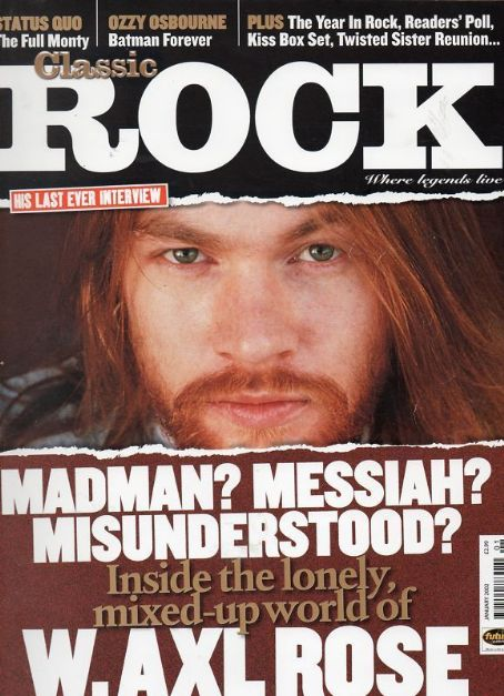 W. Axl Rose - Classic Rock Magazine Cover [United Kingdom] (January 2002)