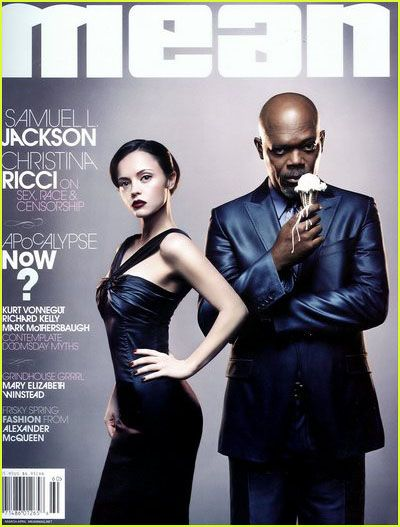 Samuel L. Jackson, Christina Ricci - Mean Magazine Cover [United States] (March 2007)