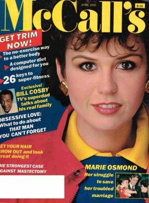 Marie Osmond - McCall's Magazine Cover [United States] (April 1985)