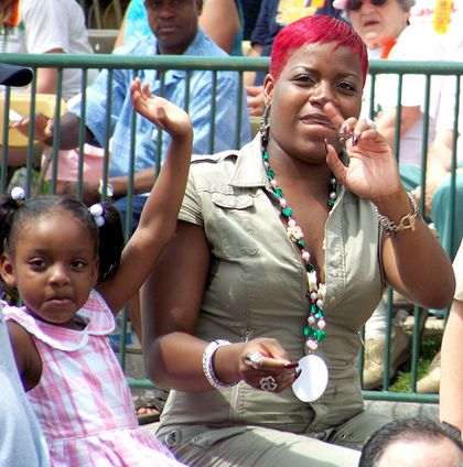 Fantasia Barrino  and daughter