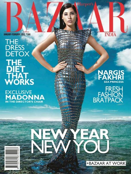 Nargis Fakhri - Harper's Bazaar Magazine Cover [India] (February 2012)