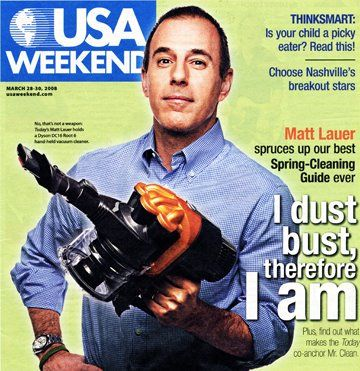 Matt Lauer   -- USA Weekend - March 2008 issue