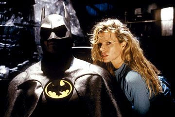 Batman Michael Keaton as  and Kim Basinger as Vicki Vale in  (1989)
