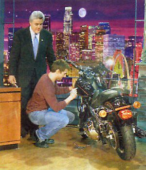 Jay Leno  with guest Tom Cruise