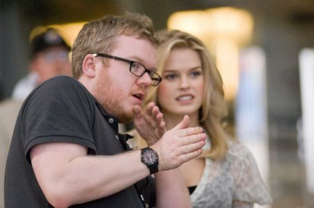 Molly Director Jim Field Smith (left) with Alice Eve (right) who plays , on the set of the DreamWorks Pictures' comedy 'She's Out of My League,' a Paramount Pictures release. Photo Credit: Darren Michaels. Copyright © 2010 DW STUDIOS L.L.C.