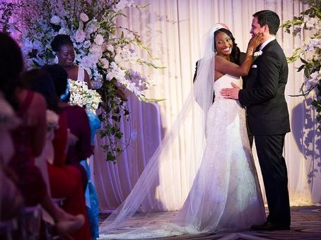 Isha Sesay Leif Coorlim and  Wedding Pics