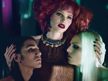 Willy Cartier Lara Stone, Andrej Pejic &  for W Magazine