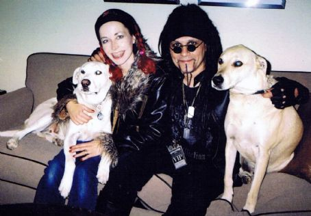 Al Jourgensen  & Angelina Lukacin with dogs Ozzy & Lemmy