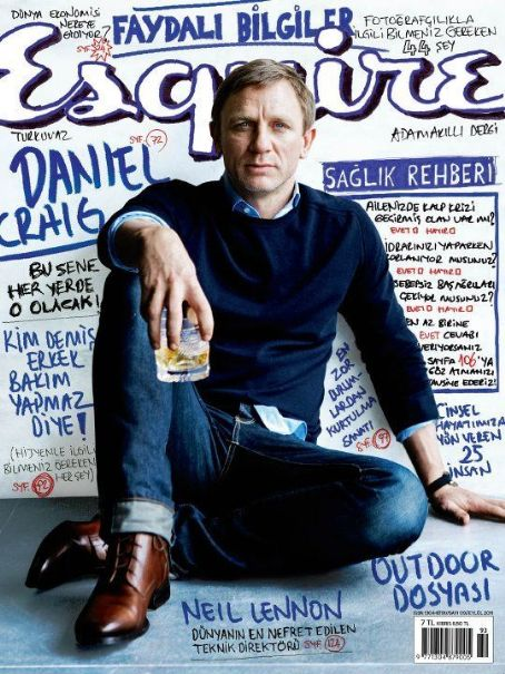 Daniel Craig - Esquire Magazine Cover [Turkey] (September 2011)