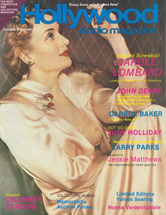 Carole Lombard - Hollywood Studio Magazine [United States] (October 1981)