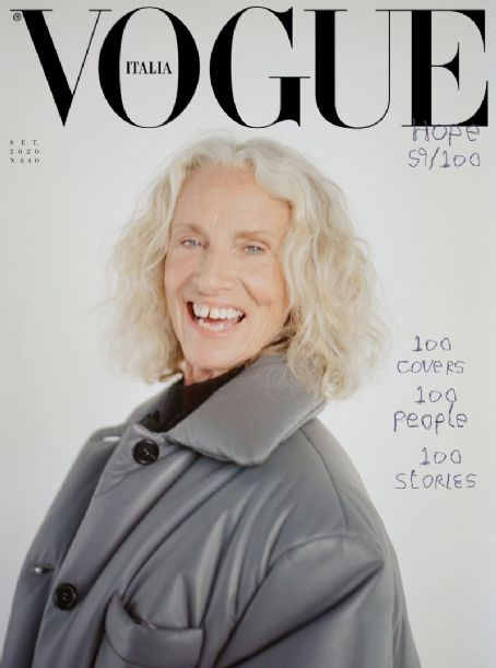 Donna Jordan - Vogue Magazine Cover [Italy] (September 2020)