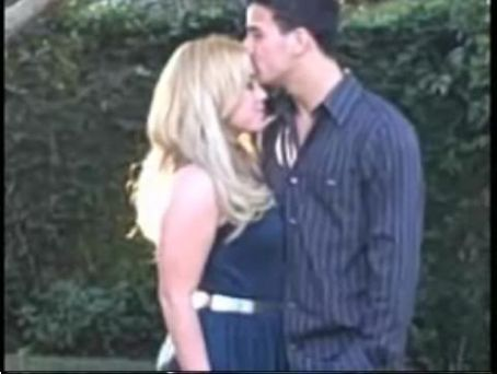Sabrina Bryan Mark Ballas kiss on forehed