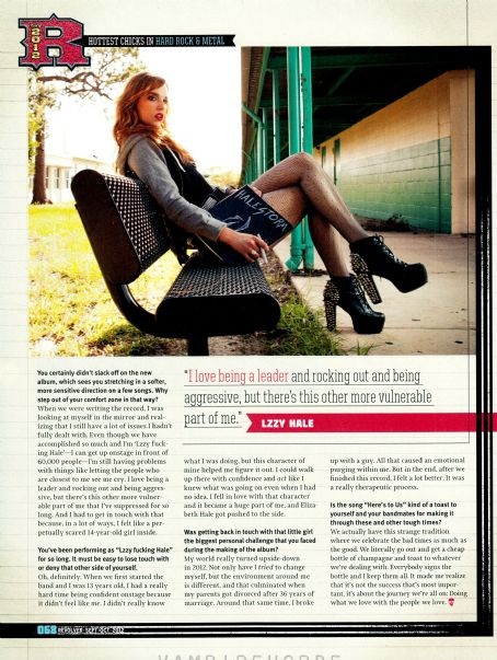 Lzzy Hale  - Revolver Magazine Pictorial [United States] (September 2012)