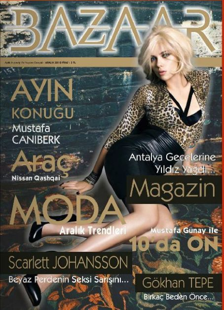Scarlett Johansson - Sah Bazaar Magazine Cover [Turkey] (December 2010)