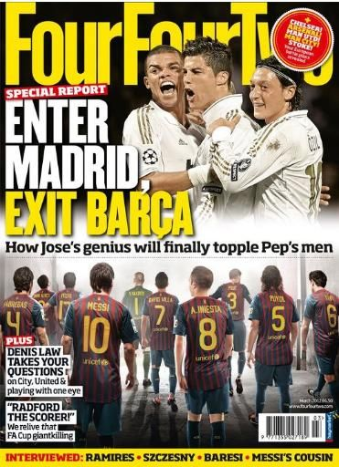 Cristiano Ronaldo, Lionel Messi - Four Four Two Magazine Cover [United Kingdom] (March 2012)