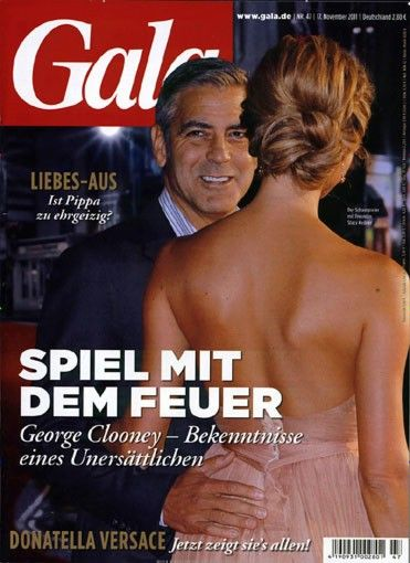 George Clooney, Stacy Keibler - Gala Magazine Cover [Germany] (17 November 2011)