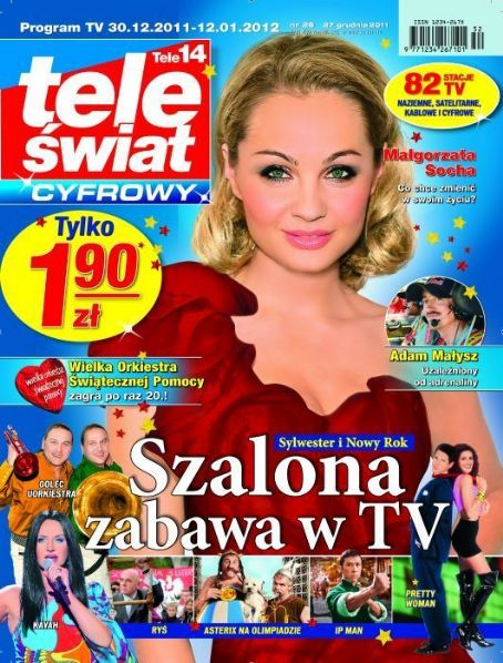 Malgorzata Socha - tele swiat Magazine Cover [Poland] (30 December 2011)