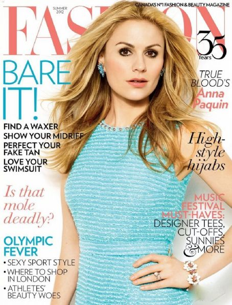 Anna Paquin - Fashion Magazine Cover [Canada] (June 2012)