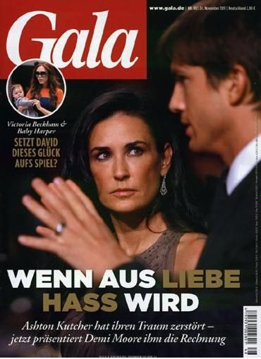 Ashton Kutcher, Demi Moore - Gala Magazine Cover [Germany] (24 November 2011)