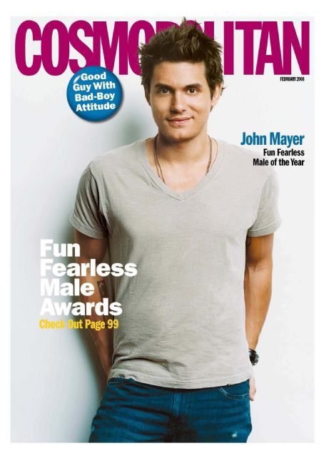 John Mayer - Cosmo Men Magazine Cover [United States] (February 2008)