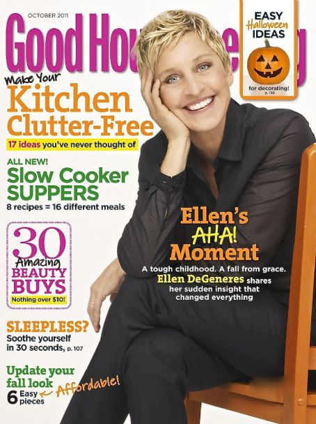 Ellen De Generes - Good Housekeeping Magazine Cover [United States] (October 2011)