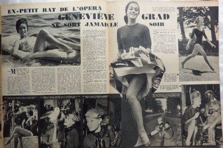 Geneviève Grad - Festival Magazine Pictorial [France] (20 December 1960)