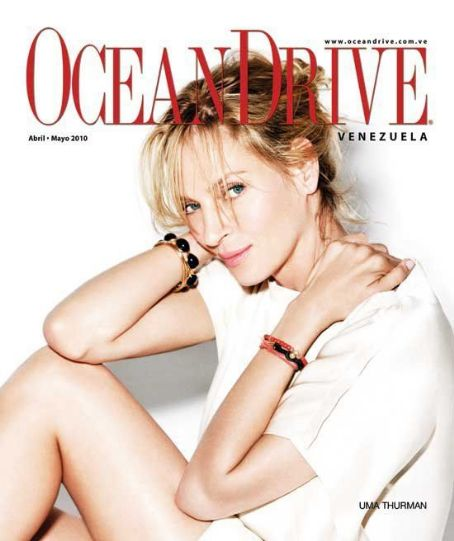 Uma Thurman - Ocean Drive Magazine Cover [Venezuela] (April 2010)