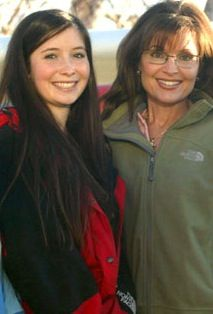 Bristol Palin  and mother Sarah Palin
