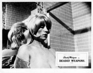 Chesty Morgan  Lobby Card For Lethal Weapons