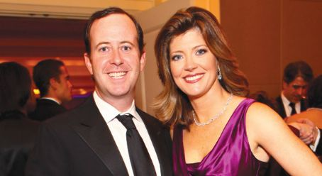 Norah O'Donnell  and husband Geoff Tracy