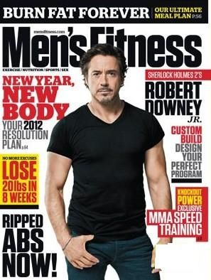 Robert Downey Jr. - Men's Fitness Magazine Cover [United States] (February 2012)