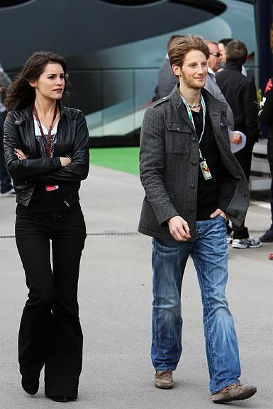 Marion Jolles and Romain Grosjean