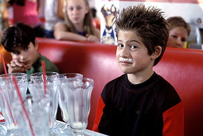 Alex D. Linz  as Max Keeble after too many milkshakes in Disney's Max Keeble's Big Move - 2001