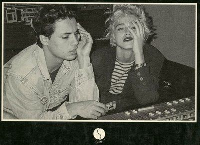 Nick Kamen  with Mentor Madonna in 1987