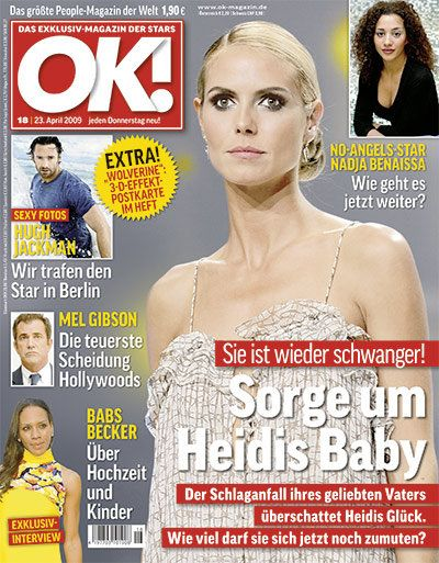 Heidi Klum, Hugh Jackman - OK! Magazine Cover [Germany] (23 April 2009)