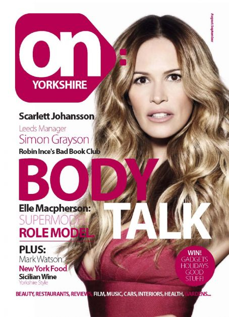 Elle Macpherson - On Yorkshire Magazine [United Kingdom] (September 2010)