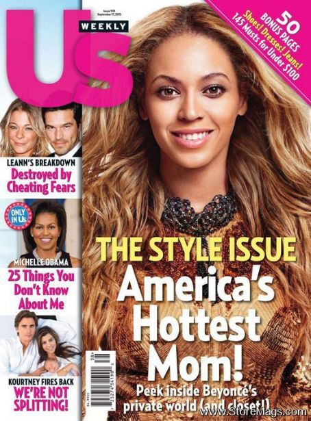 Beyoncé Knowles - US Weekly Magazine Cover [United States] (17 September 2012)