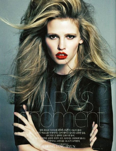 Lara Stone Vogue Korea August 2012