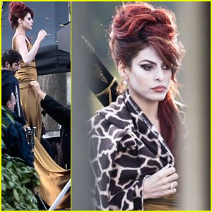 Eva Mendes: On Set of 'Holly Motors'!