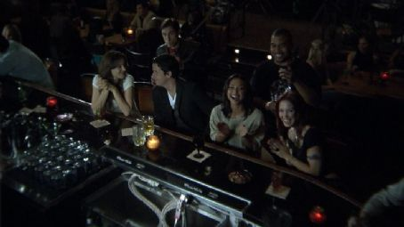 Omar Gooding L to R: Sarah Laine, Paul J. Alessi, Ross McCall, Danielle Nicolet,  and Amie Barsky in the scene of Knuckle Draggers.