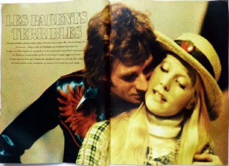 Sylvie Vartan and Johnny Hallyday - Mademoiselle Age Tendre Magazine Pictorial [France] (February 1973)