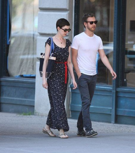 Anne Hathaway and Adam Shulman spotted out and about in New York City (July 3)