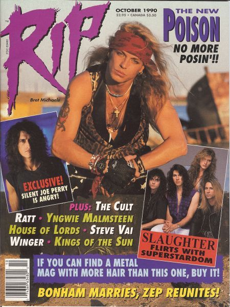Bret Michaels - Rip Magazine Cover [United States] (October 1990)