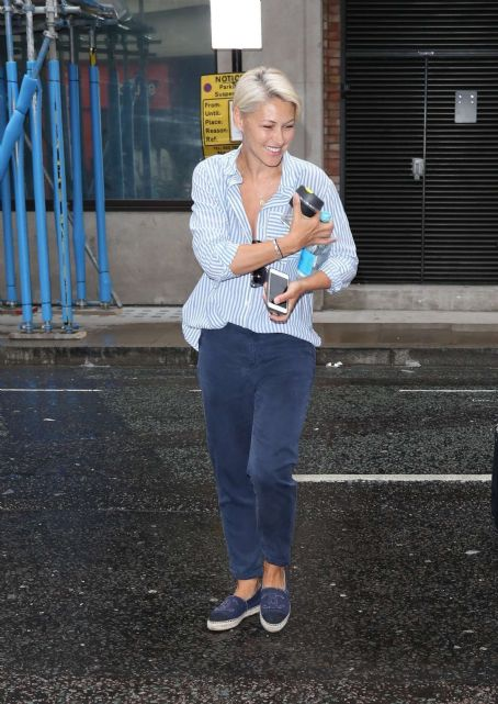 Emma Willis – Arriving at BBC Radio Studios in London