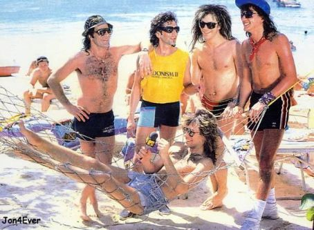Alec John Such Richie Sambora, Jon Bon Jovi, Tico Torres, David Bryan and Alec Jon Such